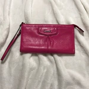 Coach hot pink wallet